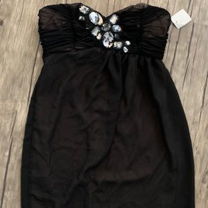 Charlotte Russe Strapless Jeweled Tulle Dress NWT